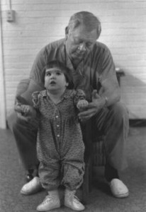 Alison with therapist Herb Daly - 1991